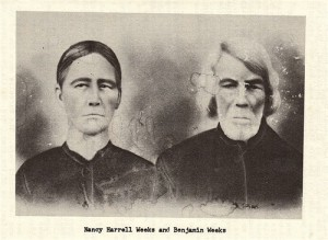 Nancy Harrell and Benjamin Weeks (c. 1880)